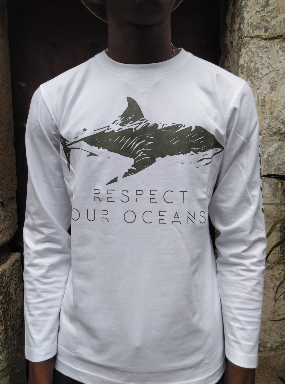 Camiseta manga larga algodón GOTS  Respect Our Oceans