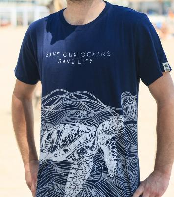 Camiseta manga corta algodón GOTS Save Our Oceans