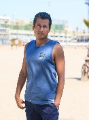 Tank Top algodón GOTS estampado SURF New Wave of Life -  Indigo
