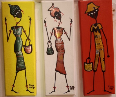 TRIPTYCH-1: Street and recyleArt by Moussa Diop made in Barcelona
