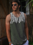 Tank Top algodón GOTS Tropical Style - 3 colors