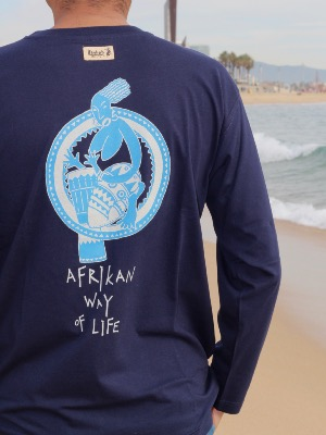 Camiseta manga larga de algodón - Afrika Style- way of life