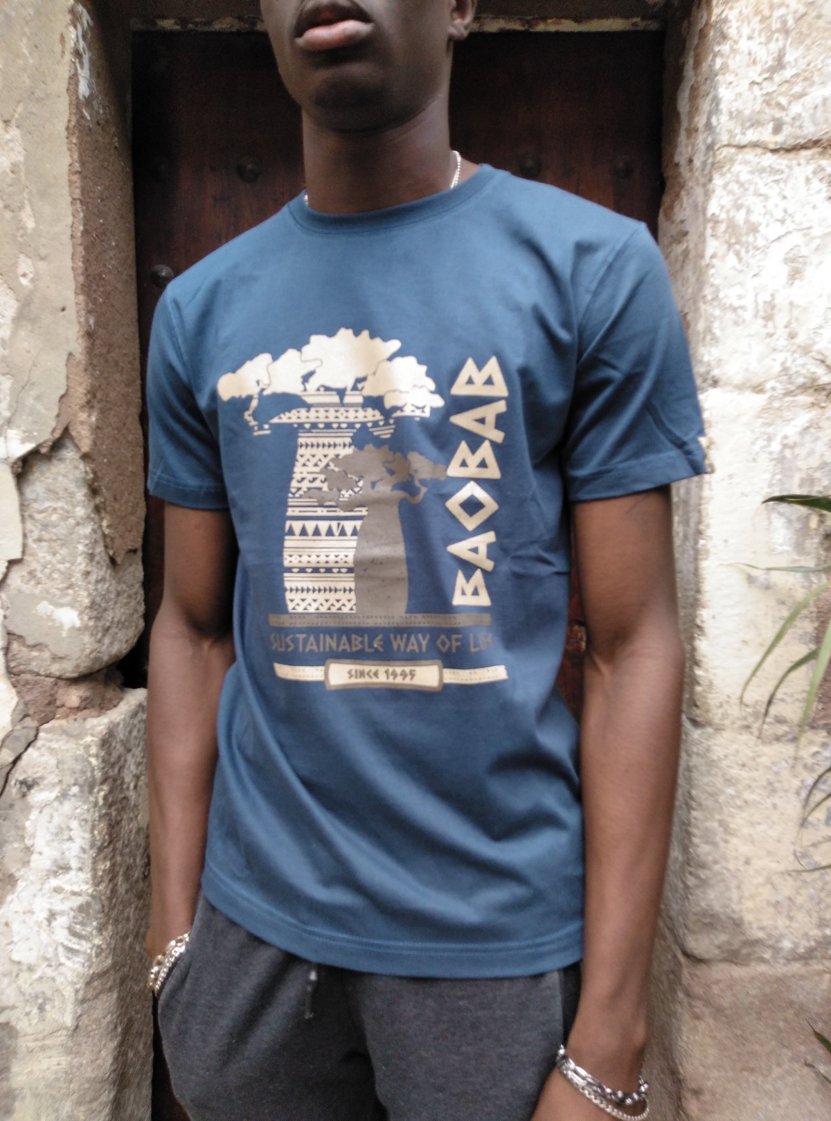 Camiseta manga corta algodón GOTS  Sustainable Baobab