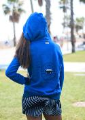 Sudadera surfera de mujer - On The Road Again -  Azul rey