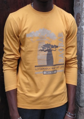 Camiseta manga larga algodón GOTS  Sustainable Baobab
